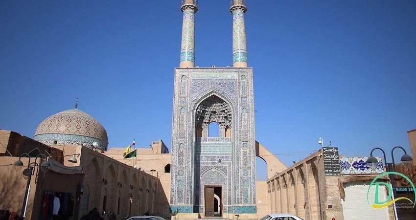 راز مثلث های مرمرین پشت بام مسجد جامع یزد چیست؟
