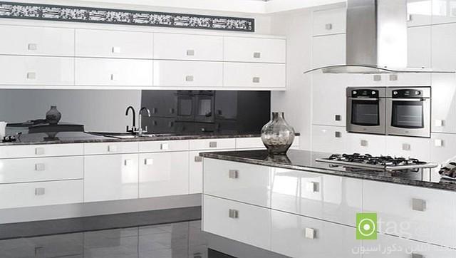 عکس کابینت های گلاس در آشپزخانه هایی با دکوراسیون کاملا مدرن