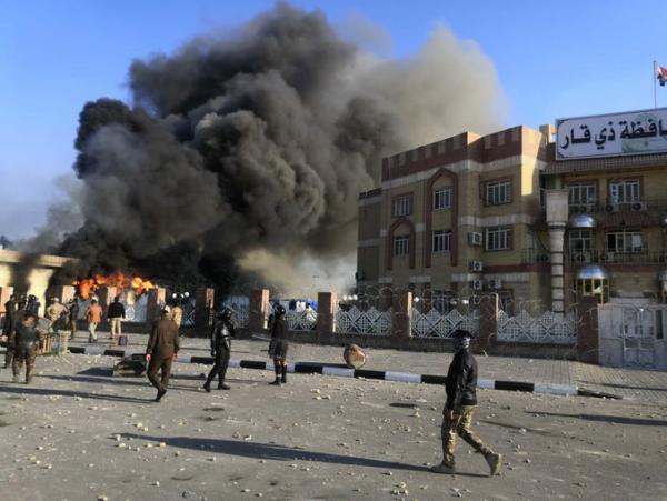 معترضان در ذی قار خواهان برکناری الکاظمی شدند خبرنگاران