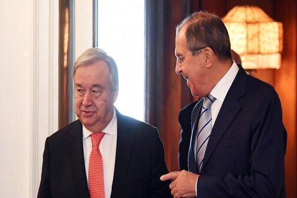 گوترش و لاوروف روز چهارشنبه در مسکو ملاقات خواهند کرد