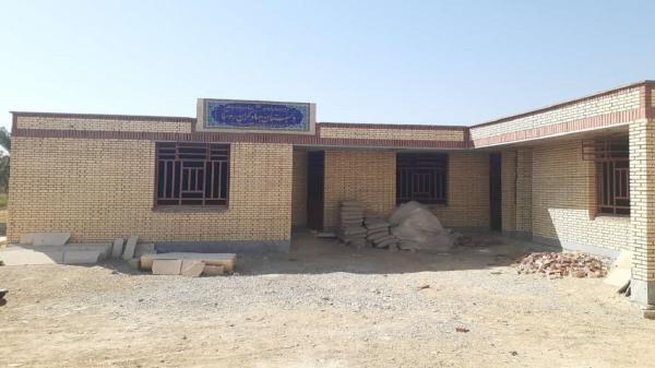 مدرسه ای در روستای شبیشی کوچک شادگان که نیمه کاره افتتاح و رها شد